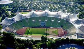 Munich Olympic Stadium Stock Photo