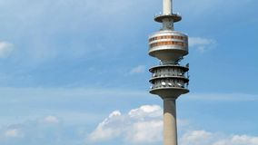 Munich olympic tower stock footage