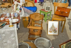 Munich, open air flea market Royalty Free Stock Photography