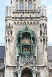 Munich, overall view of the glockenspiel Royalty Free Stock Photography