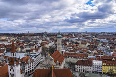 Munich. Overview germany stock photography