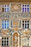 Munich, painted baroque house at Rindermarkt corner Stock Images
