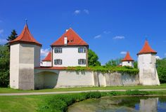 Munich palace Blutenburg Royalty Free Stock Images