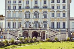 Munich, palacio de Nymphenburg, detalle de la fachada Foto de archivo libre de regalías