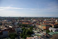 Munich panorama. From tower of church Stock Photography