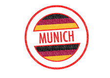 MUNICH. Passport-style MUNICH rubber stamp over a white background Stock Image