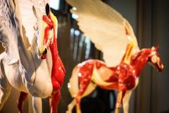 Munich porslin pegasus, mytisk varelse royaltyfri fotografi