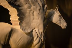 Munich porslin pegasus, mytisk varelse arkivbild