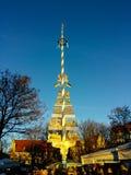 Munich purity law. Maypole with Munich purity law, Munich, Bavaria, Germany royalty free stock photo