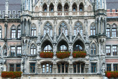 Munich Rathaus Architectural Detail Stock Photo