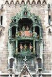 Munich Rathaus Glockenspieldetalj Royaltyfria Bilder