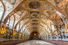 Munich Residence. MUNICH, GERMANY - JULY 31: Interior of the Antiquarium in the Munich Residence on July 31, 2015 in Munich, Germany. The Residence is the former stock photography