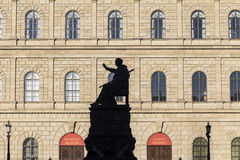 Munich residence with statue Royalty Free Stock Images