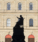 Munich residence with statue Royalty Free Stock Photography