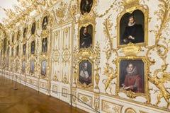 Munich Residenz - st?endekorridor royaltyfri foto
