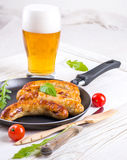 Munich sausages with tomatoes Royalty Free Stock Image