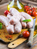 Munich sausages with tomatoes Stock Photography