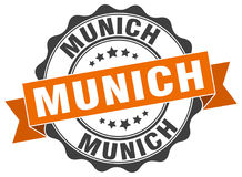 Munich seal. Munich round ribbon seal isolated on white background Royalty Free Stock Photos