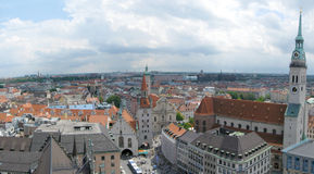 Munich skyline Royalty Free Stock Image