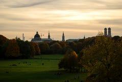 Munich skyline. Downtown Munich skyline at sunset Royalty Free Stock Photography