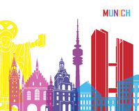 Munich skyline pop. In editable vector file Royalty Free Stock Image