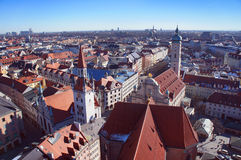 Munich spring day skyline Royalty Free Stock Images