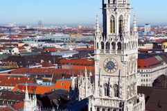 Munich spring day skyline Stock Images