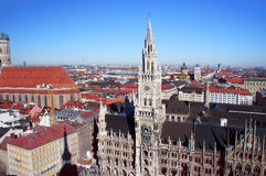 Munich spring day skyline Stock Image