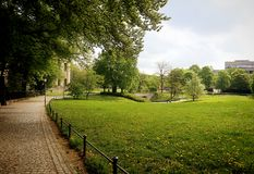 Munich, spring view of Hofgarten. Popular park in city center royalty free stock images