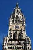 Munich stadshusklocka Arkivfoton