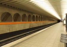 munich stationstunnelbana Arkivfoto