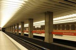 munich stationstunnelbana Royaltyfria Foton