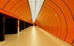 munich stationstunnelbana Arkivfoton