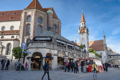 Munich - street life Royalty Free Stock Images