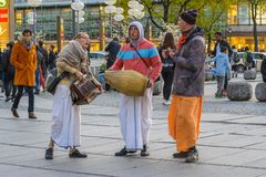 Munich street musicians Royalty Free Stock Photography