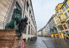 At Munich streets Royalty Free Stock Image