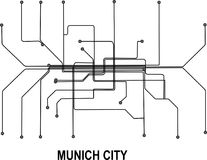 Munich City map. Munich subway map available in vector file format Royalty Free Stock Image