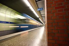 Munich Subway station Royalty Free Stock Photos