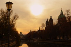 Munich Sunset Royalty Free Stock Images