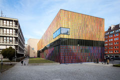 Munich 5th Februari 2071: Exhi för samling för museumBrandhorst konst Arkivbilder