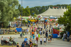 People at Munich Tollwood Festival Royalty Free Stock Photo
