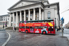 Munich Tour Bus Royalty Free Stock Photography