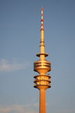 Munich Tower. Olympiapark's evening sun in Munich where 1972 summer Olympics took place Royalty Free Stock Image