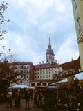 A Busy Munich Town stock image
