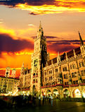 The Munich town hall Royalty Free Stock Photo