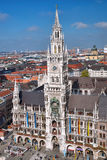 Munich with Town Hall in Germany Stock Photos