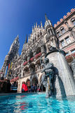 Munich with Town Hall in Germany Stock Photo