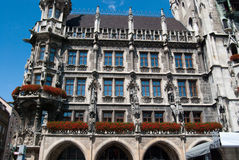 Munich town hall on Marienplatz Stock Images