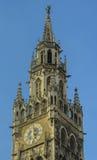 Munich Town Hall tower stock photo