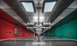 Munich tunnelbana Arkivfoto